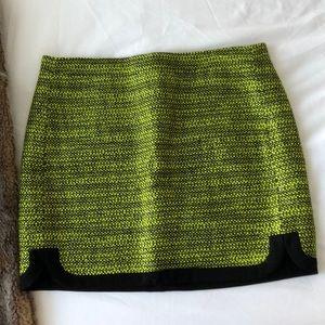 Jcrew Neon and Black Tweed Mini Skirt